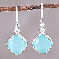 Featured review for Chalcedony dangle earrings, Sea Glass