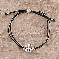 Featured review for Sterling silver pendant bracelet, Peaceful Gleam in Black