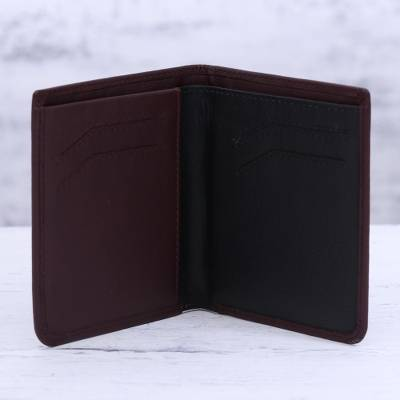 Cordovan Leather Wallet with Multiple Pockets