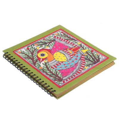 Bird-Themed Madhubani Paper Photo Album from India