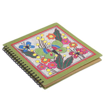 Butterfly-Themed Madhubani Paper Photo Album from India