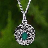 Featured review for Onyx pendant necklace, Jaipur Mystic