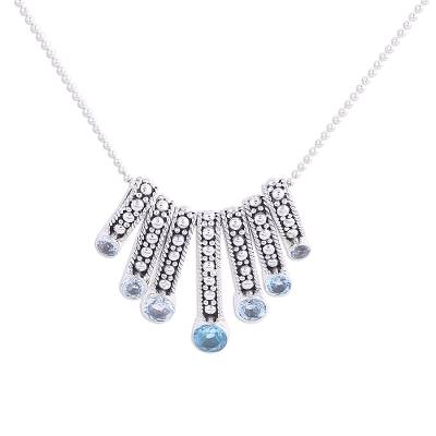 Blue Topaz Multi-Pendant Necklace from India
