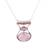 Rose quartz pendant necklace, 'Simply Scintillating' - Rose Quartz and Sterling Silver Modern Pendant Necklace (image 2a) thumbail