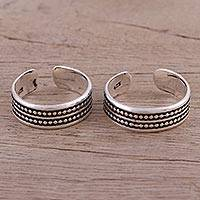 Featured review for Sterling silver toe rings, Dotted Daydream (pair)