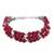 Aventurine beaded bracelet, 'Elegant Trinity in Cerise' - Hand Crafted Cerise Aventurine Beaded Bracelet from India (image 2a) thumbail