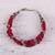 Aventurine beaded bracelet, 'Elegant Trinity in Cerise' - Hand Crafted Cerise Aventurine Beaded Bracelet from India (image 2b) thumbail