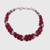 Aventurine beaded bracelet, 'Elegant Trinity in Cerise' - Hand Crafted Cerise Aventurine Beaded Bracelet from India (image 2c) thumbail