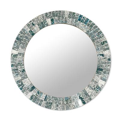 Artisan Crafted Glass Mosaic Wall Mirror Frame from India