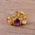 Vermeil multi-gemstone cocktail ring, 'The Five Allures' - Amethyst Citrine and Blue Topaz Gold Vermeil Cocktail Ring thumbail