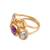 Vermeil multi-gemstone cocktail ring, 'The Five Allures' - Amethyst Citrine and Blue Topaz Gold Vermeil Cocktail Ring (image 2d) thumbail
