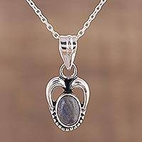 Labradorite pendant necklace, 'Misty Wonder' - Labradorite and Sterling Silver Pendant Necklace from India