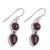 Garnet dangle earrings, 'Scarlet Eternity' - Handmade Garnet Dangle Earrings from India (image 2c) thumbail