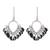 Onyx chandelier earrings, 'Midnight Luster' - Onyx and Sterling Silver Chandelier Earrings from India (image 2a) thumbail