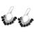 Onyx chandelier earrings, 'Midnight Luster' - Onyx and Sterling Silver Chandelier Earrings from India (image 2c) thumbail