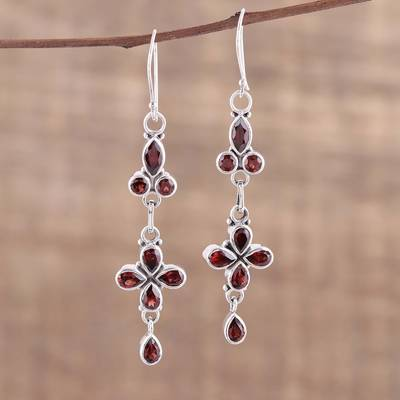 Garnet dangle earrings, Rouge Allure