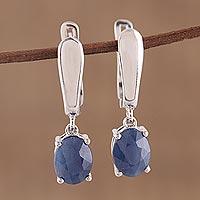 Sapphire dangle earrings,