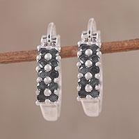 Sapphire hoop earrings,