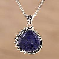 Featured review for Lapis lazuli pendant necklace, Blue Daydream