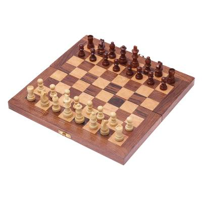 Babul Acacia Haldu Wood Chess Set Convertible Storage Box