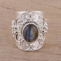 Labradorite cocktail ring Splendid Swirl (India)
