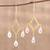 Gold plated quartz chandelier earrings, 'Cascading Drops' - Crystal Quartz 22k Gold Plated Sterling Silver Earrings thumbail
