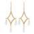 Gold plated quartz chandelier earrings, 'Cascading Drops' - Crystal Quartz 22k Gold Plated Sterling Silver Earrings (image 2a) thumbail