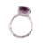 Rhodium plated amethyst single-stone ring, 'Fascinating Glamour' - Rhodium Plated Amethyst Single-Stone Ring from India (image 2e) thumbail