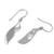 Rhodium plated sterling silver dangle earrings, 'Gleaming Blades' - Rhodium Plated Sterling Silver Dangle Earrings from India (image 2c) thumbail