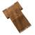 Wood decorative comb, 'Traditional Tribe' - Handmade Acacia Wood Decorative Tribal Comb Made in India (image 2c) thumbail
