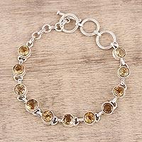 Citrine link bracelet Sunlit Dew (India)
