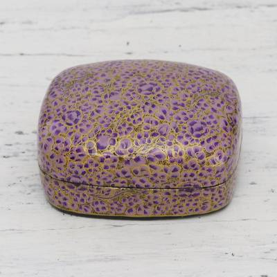 Papier mache decorative box, Lavender Mist
