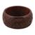 Wood bangle bracelet, 'Connected Garden' - Hand Carved Floral Motif Wood Bangle Bracelet from India (image 2a) thumbail