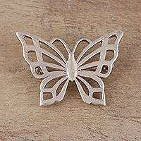 Sterling silver brooch,