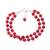 Quartz beaded bracelet, 'Felicity in Red' - Sterling Silver and Red Quartz Beaded Bracelet from India (image 2a) thumbail