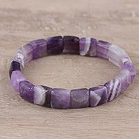 Agate beaded stretch bracelet,