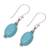 Sterling silver dangle earrings, 'Cloudless Sky' - Sterling Silver and Recon Turquoise Dangle Earrings (image 2c) thumbail
