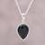 Onyx pendant necklace, 'Midnight Drop' - Sterling Silver Black Onyx Midnight Drop Pendant Necklace thumbail