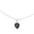 Onyx pendant necklace, 'Midnight Drop' - Sterling Silver Black Onyx Midnight Drop Pendant Necklace (image 2a) thumbail