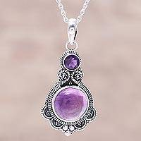 Amethyst pendant necklace Lilac Harmony (India)