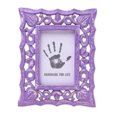 Lilac Purple Shabby Chic Mango Wood Photo Frame 4x6 Inch