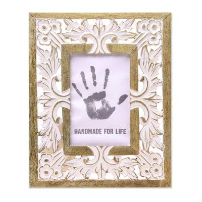 Mango Wood Photo Frame Crafted in India (4x6)