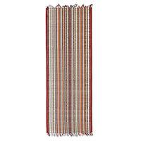 Cotton and grass reed blend area rug, 'Creative Allure' (1.5x4) - Multicolored Cotton and Grass Reed Blend Rug (1.5x4)