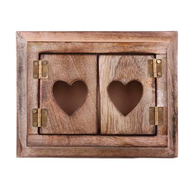 Mango Wood Photo Frame with Doors from India (4x6)