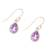 Gold plated amethyst dangle earrings, 'Fantastic Drops' - Gold Plated 4-Carat Amethyst Dangle Earrings from India (image 2c) thumbail