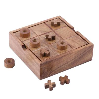 Wood and Glass 2-in-1 Board Game from India