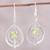 Peridot dangle earrings, 'Glossy Drops' - Drop-Shaped Peridot Dangle Earrings from India thumbail