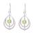 Peridot dangle earrings, 'Glossy Drops' - Drop-Shaped Peridot Dangle Earrings from India (image 2a) thumbail