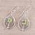 Peridot dangle earrings, 'Glossy Drops' - Drop-Shaped Peridot Dangle Earrings from India (image 2b) thumbail