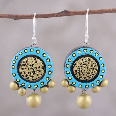 Ceramic dangle earrings, Sun Catchers
